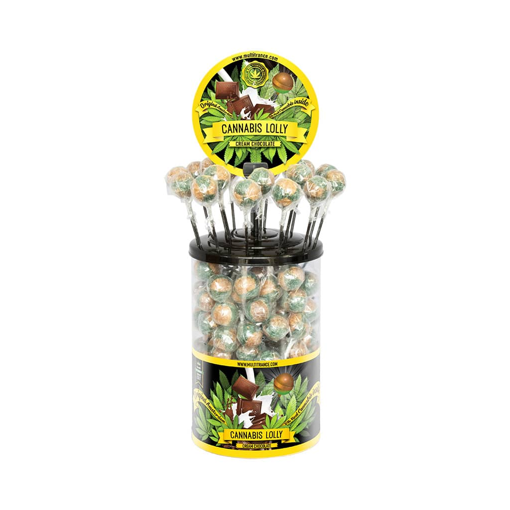 Cannabis Cream Chocolate Lollies – Display Container (100 Lollies)