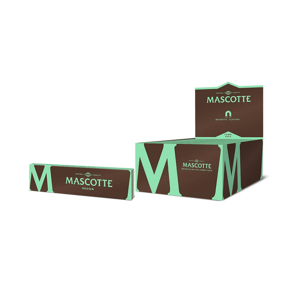 Mascotte Combi Brown Magnetic Closure Rolling Paper