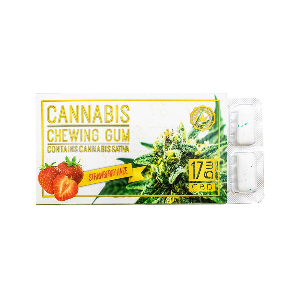 Cannabis Strawberry Chewing Gum (17mg CBD)