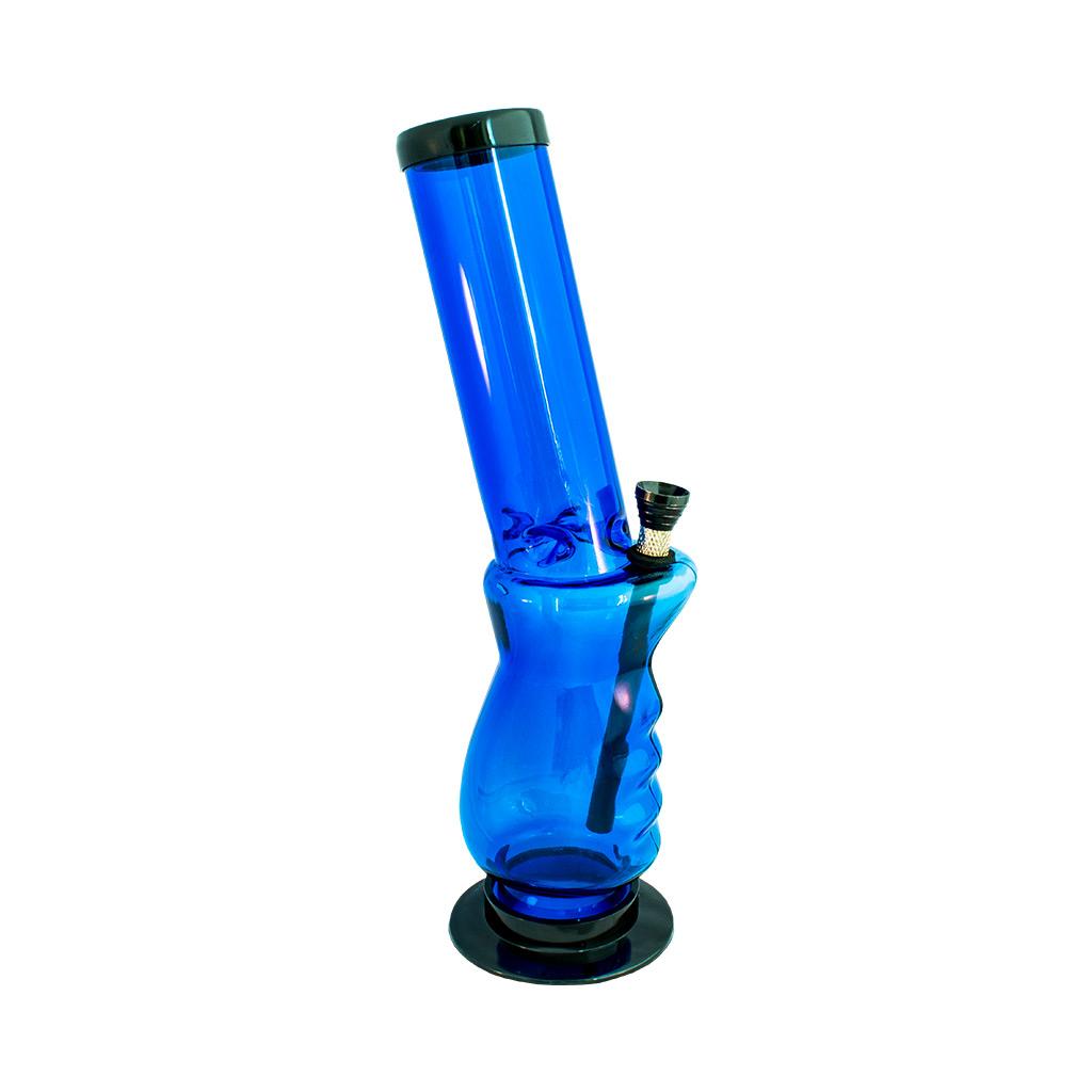 Multitrance blue slanted acrylic bong