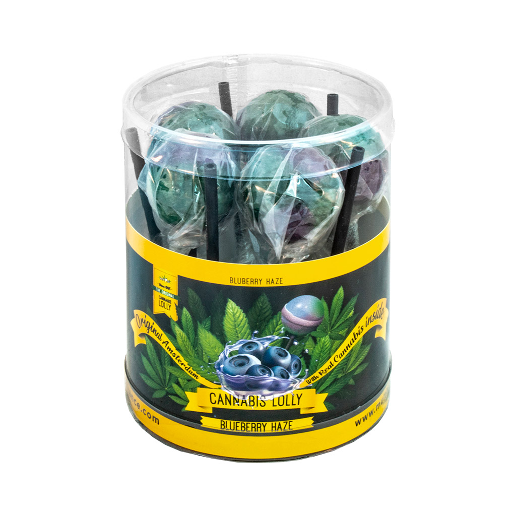 Cannabis Blueberry Haze Lollies – Gift Box (10 Lollies)