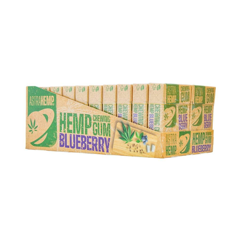 Astrahemp Blueberry Cannabis Chewing Gum (Sugar Free)