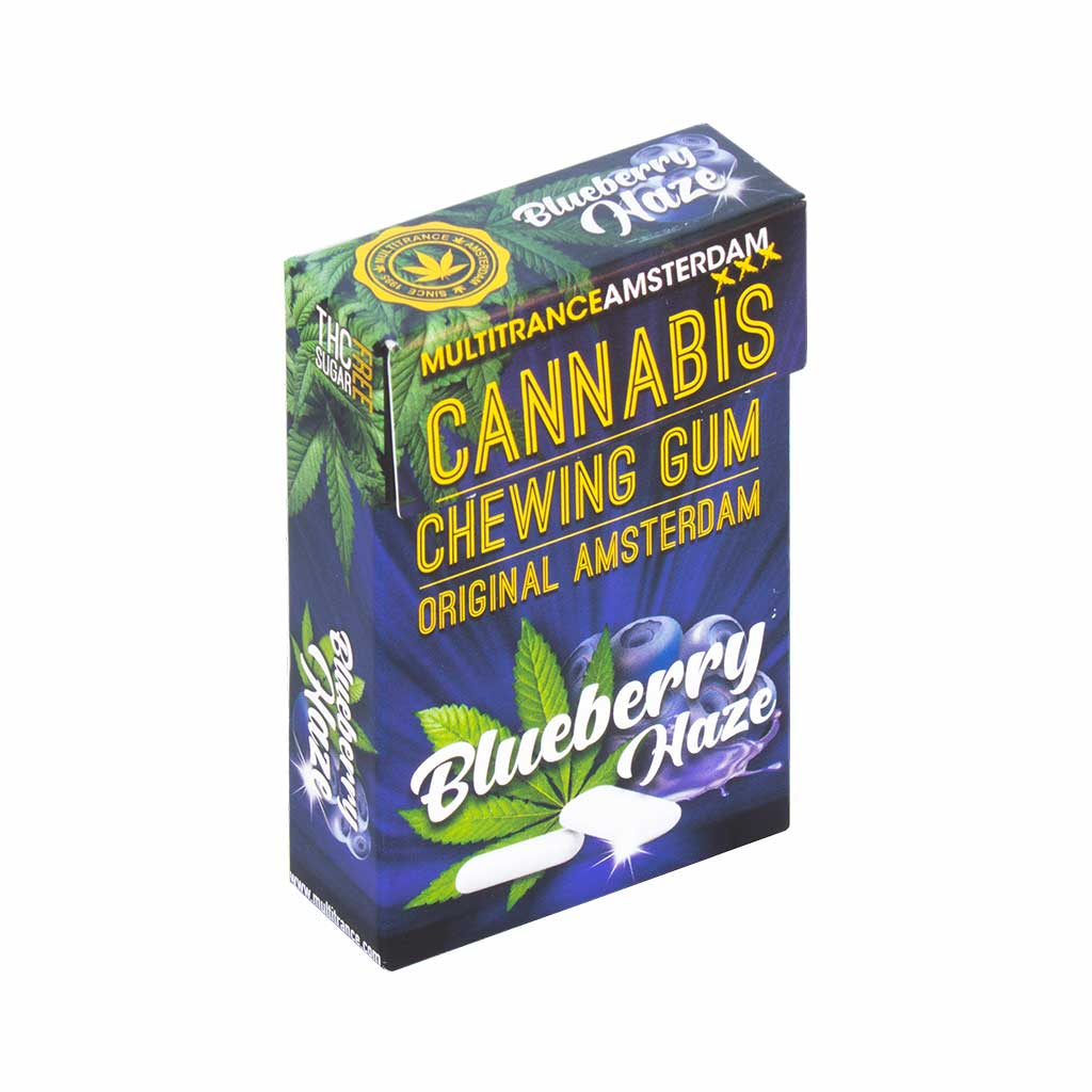 Cannabis Blueberry Haze Chewing Gum (Sugar Free)