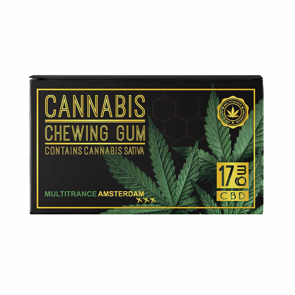 Cannabis Eucalyptus Mint Chewing Gum (17mg CBD)