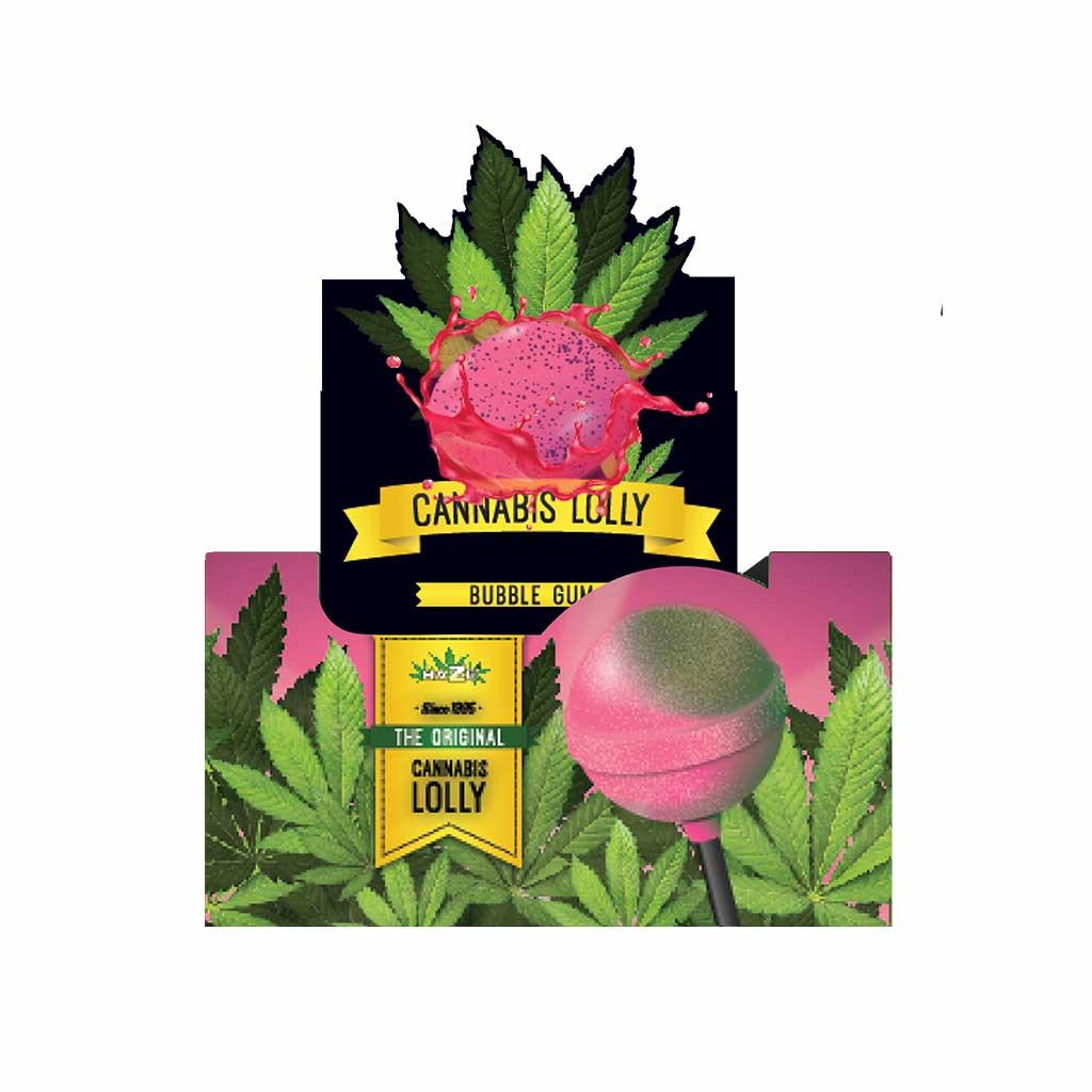 Cannabis Bubble Gum Lollies – Display Carton (70 Lollies)