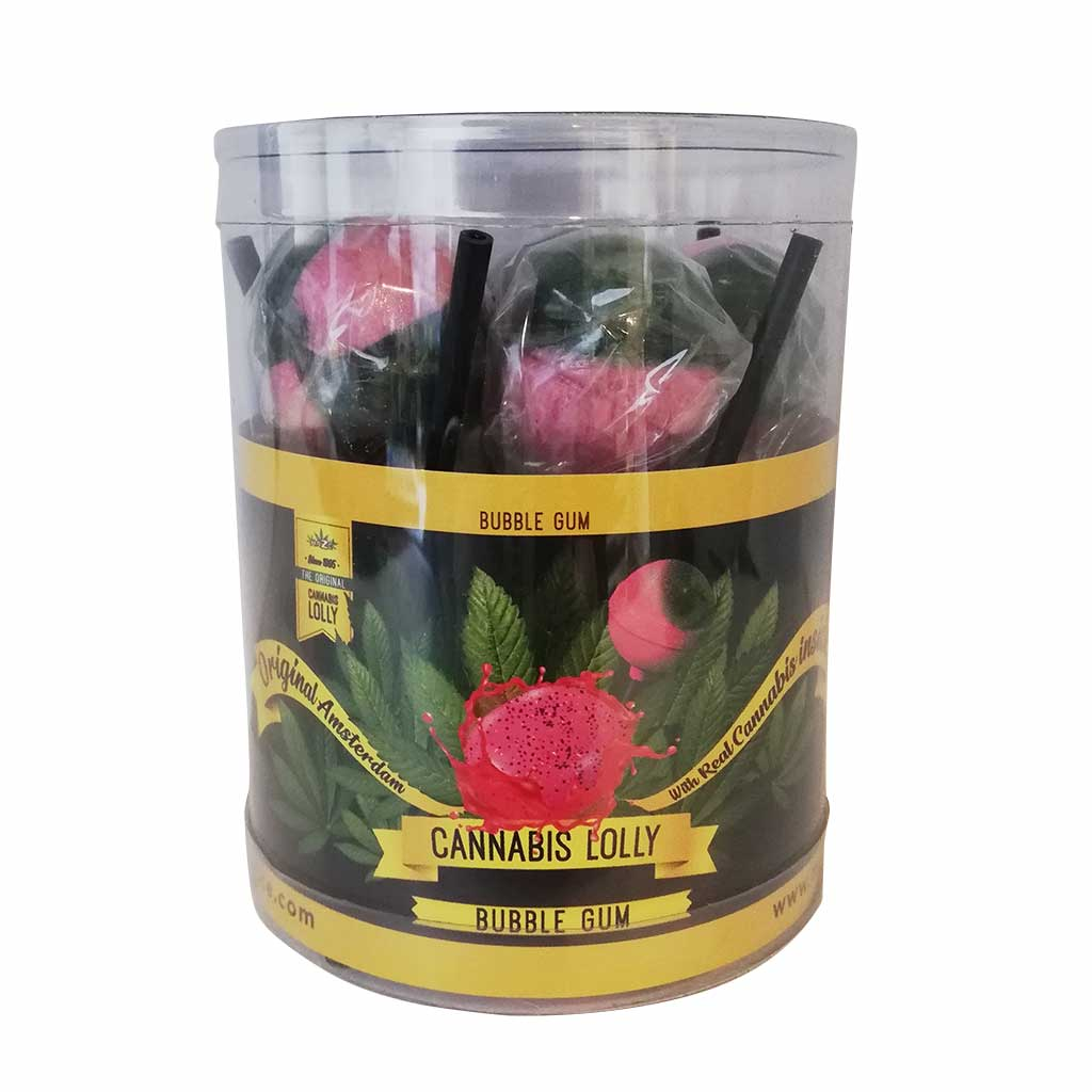 Cannabis Bubble Gum Lollies – Gift Box (10 Lollies)