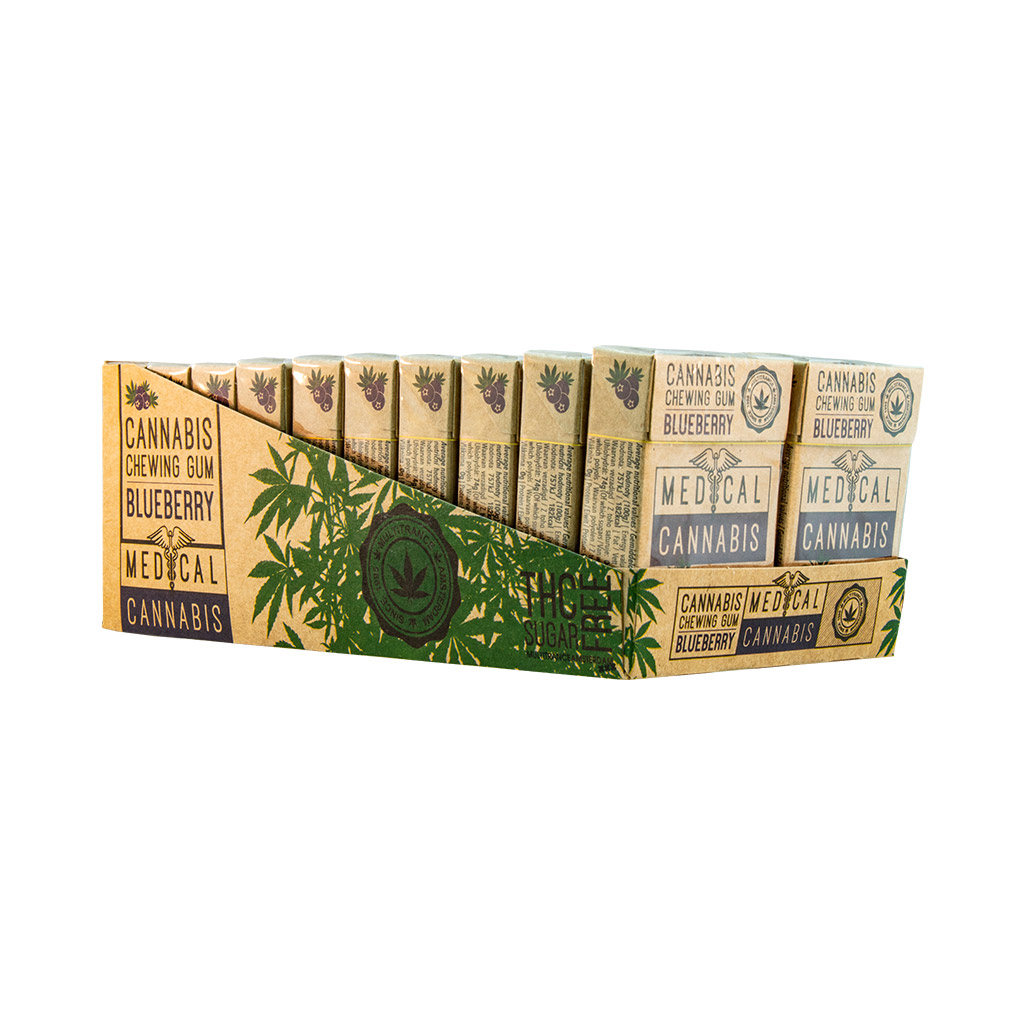 Medical Cannabis Blueberry Chewing Gum (Sugar Free)
