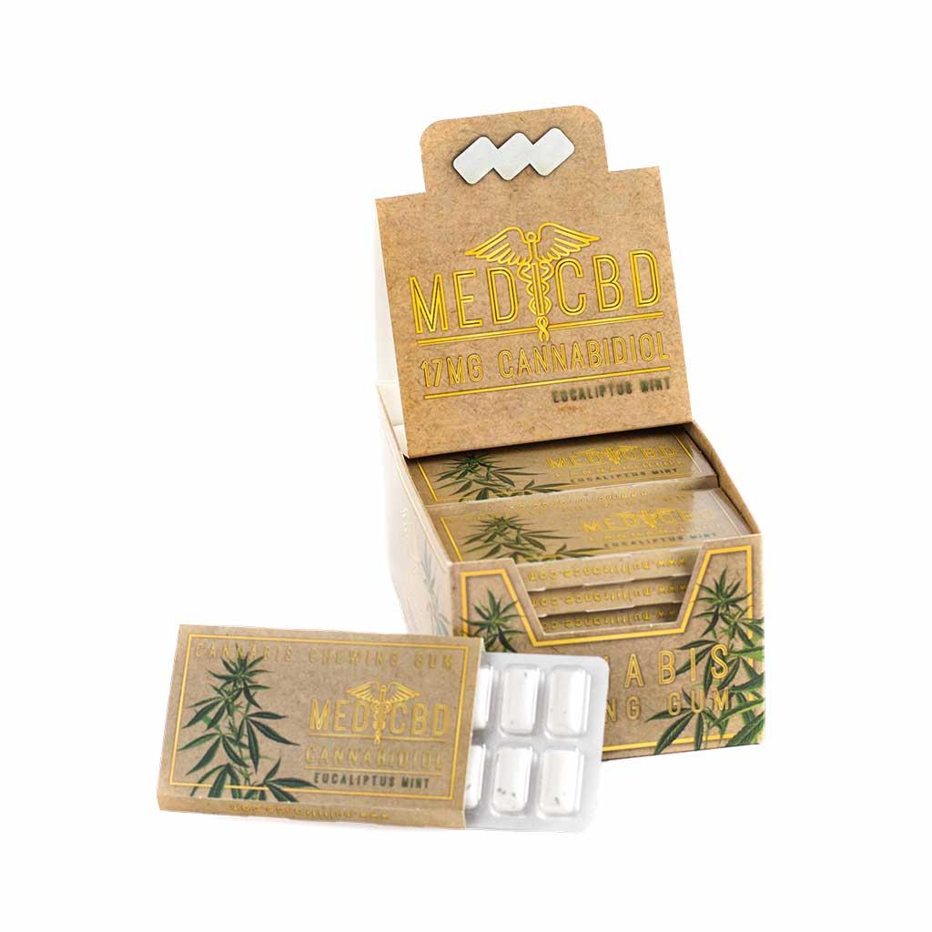 MediCBD Cannabis Eucalyptus Mint Chewing Gum (17mg CBD)