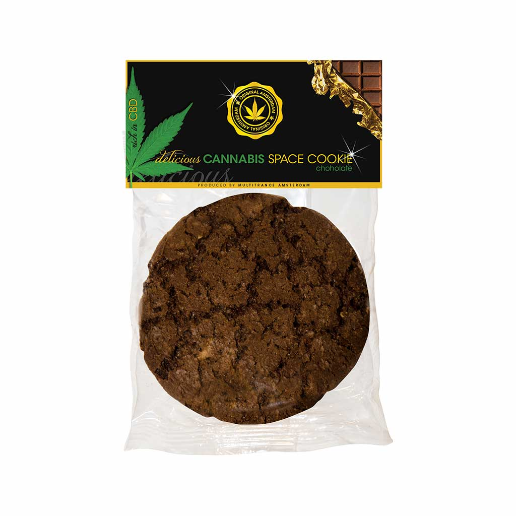 a delicious American style Multitrance cannabis chocolate flavoured cookie