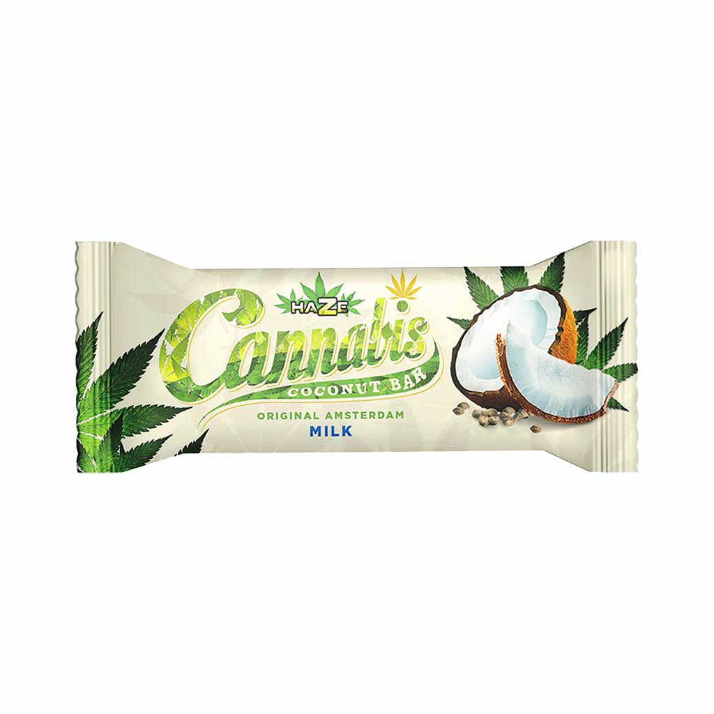HaZe Cannabis Coconut Milk Chocolate Bar