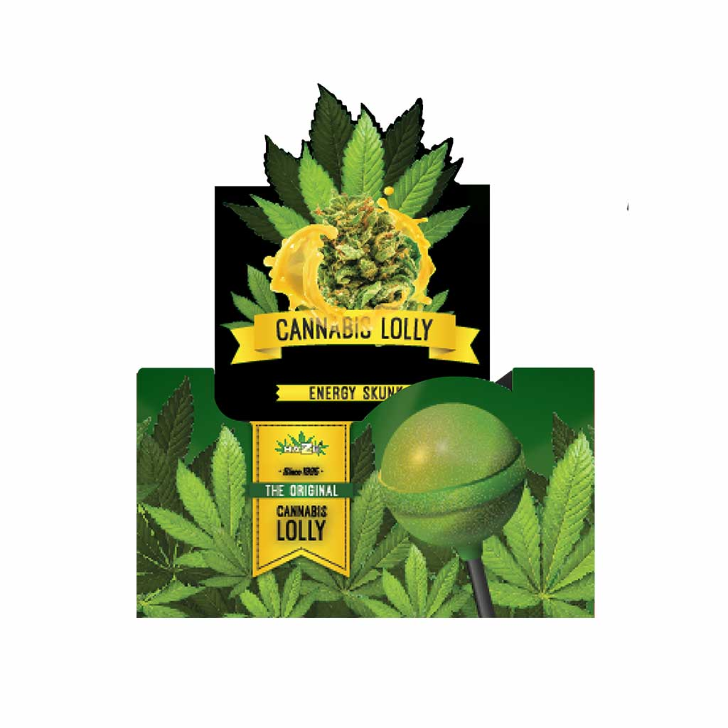 Cannabis Energy Skunk Lollies – Display Carton (70 Lollies)