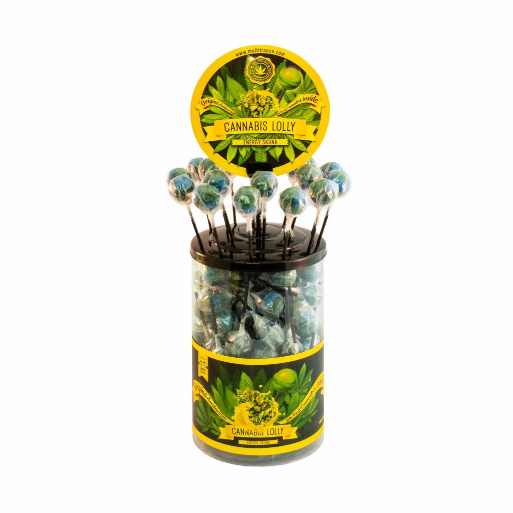 Cannabis Energy Skunk Lollies – Display Container (100 Lollies)