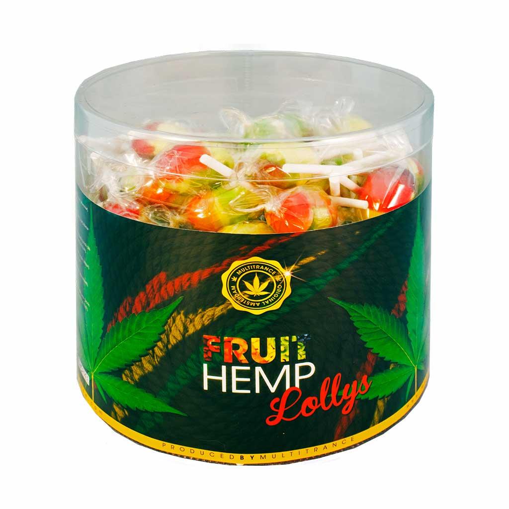 Cannabis Fruit Hemp Lollies – Display Container (80 Lollies)