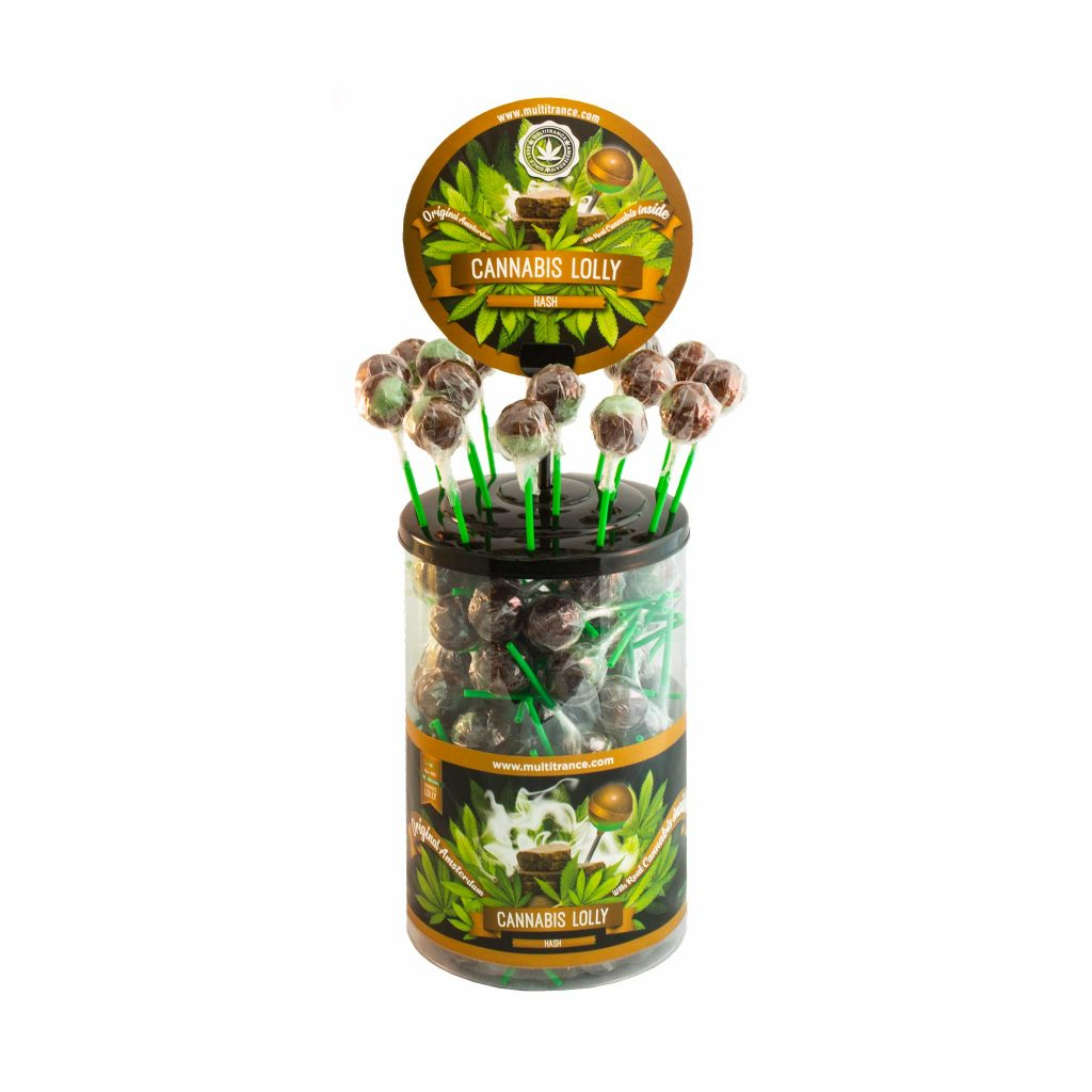 Cannabis Hash Lollies – Display Container (100 Lollies)