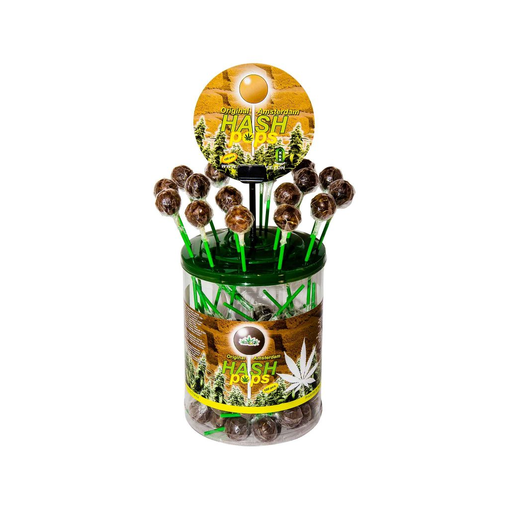 Cannabis Hash Pops – Display Container (100 Lollies)