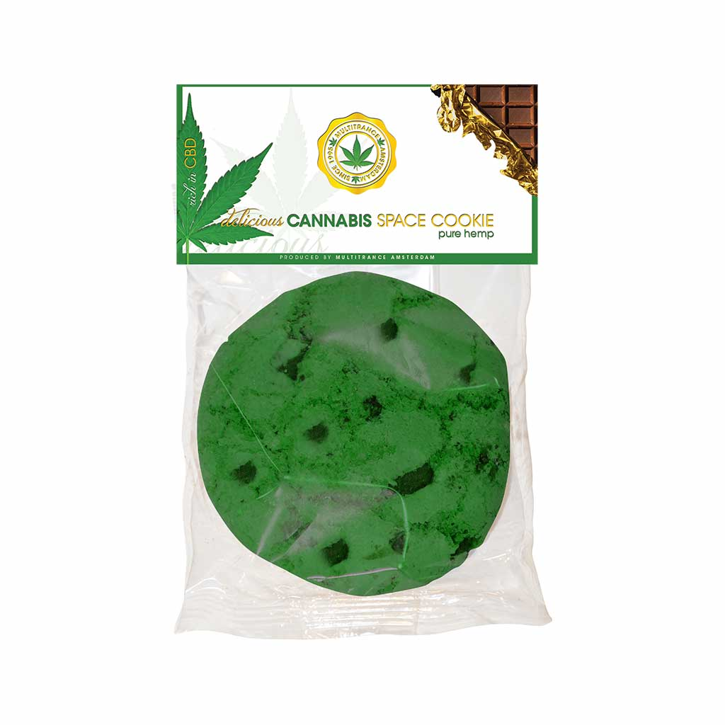 a delicious American style Multitrance cannabis pure hemp flavoured cookie