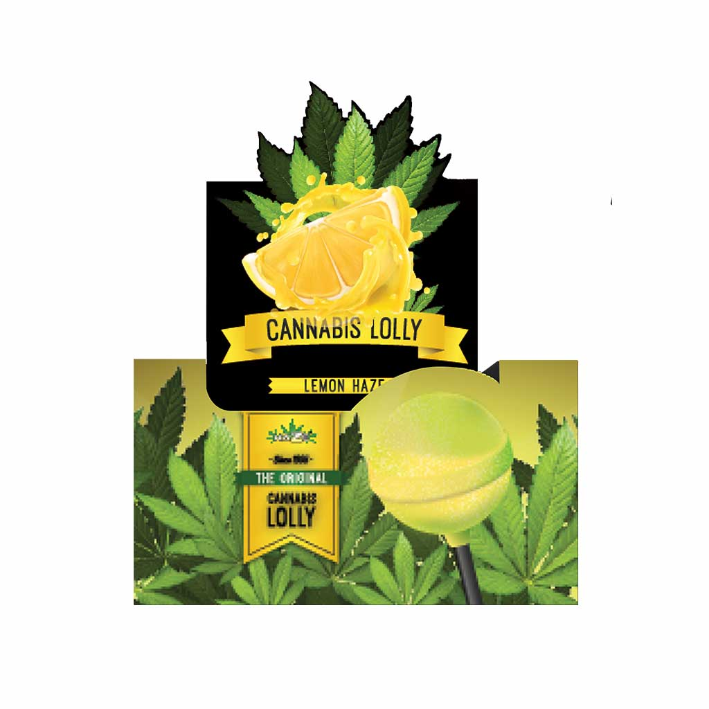 Cannabis Lemon Haze Lollies – Display Carton (70 Lollies)