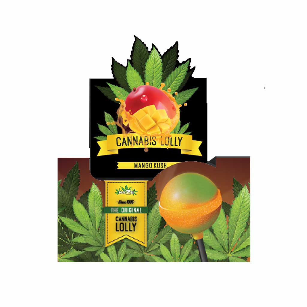 Cannabis Mango Kush Lollies – Display Carton (70 Lollies)