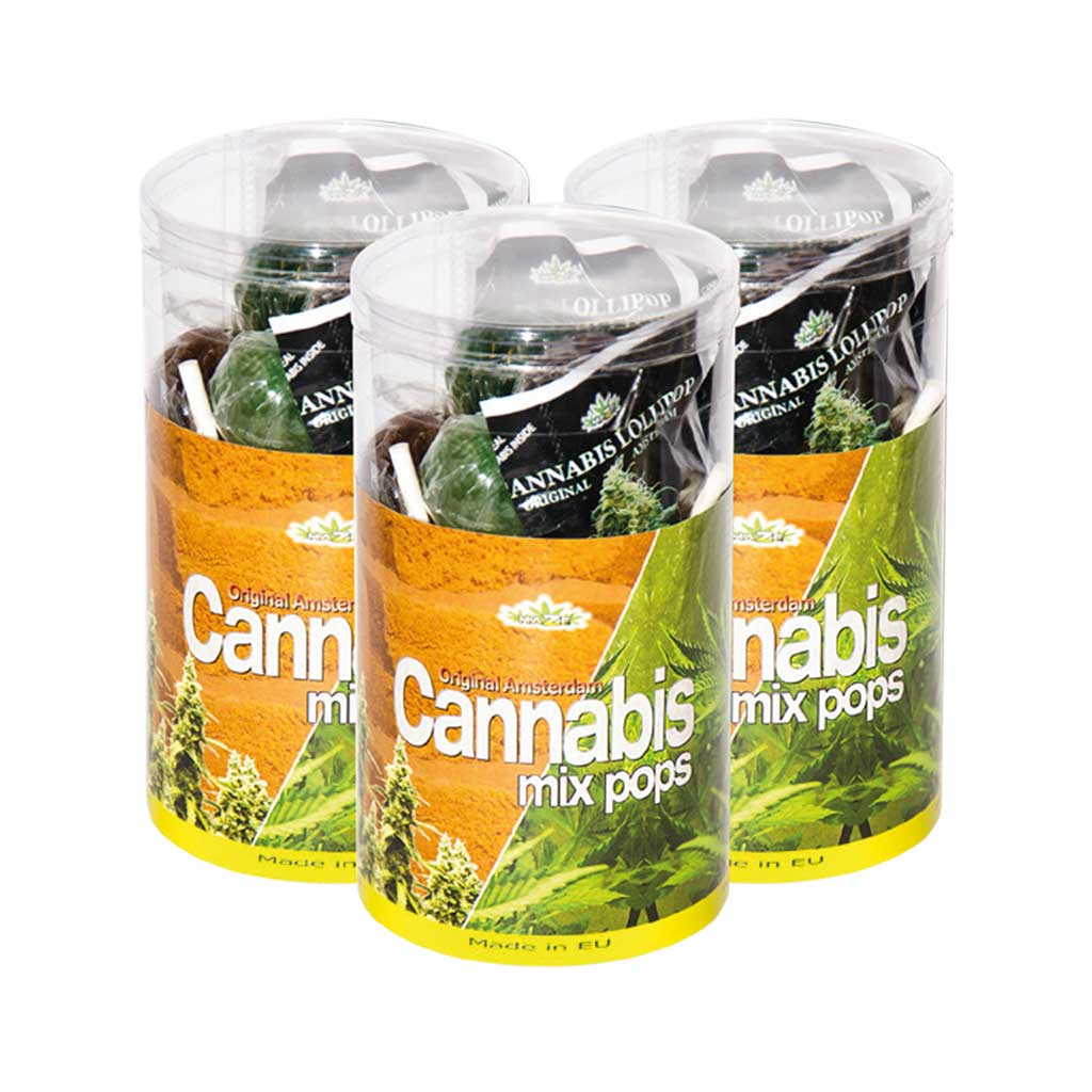 Cannabis Mix Pops – Gift Box (15 Lollies)