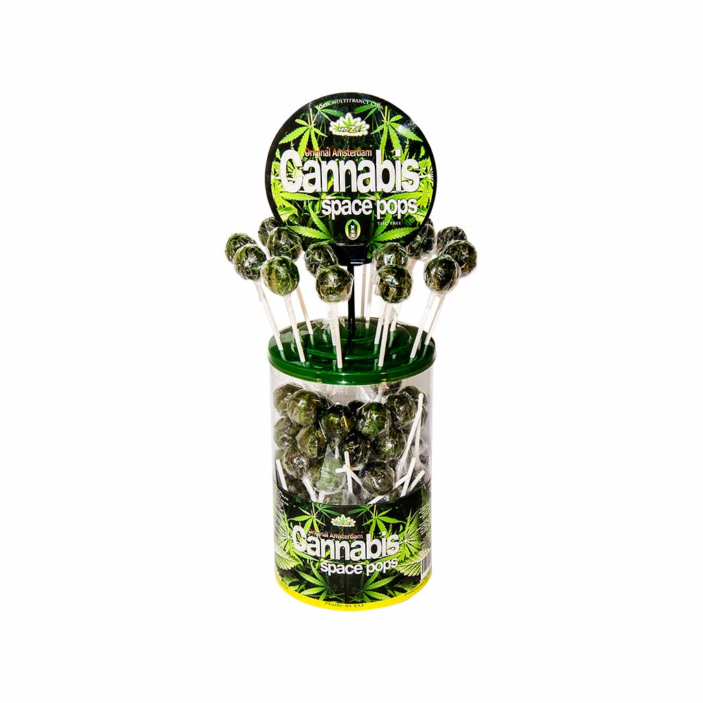 Cannabis Large Pops – Display Container (100 Lollies)