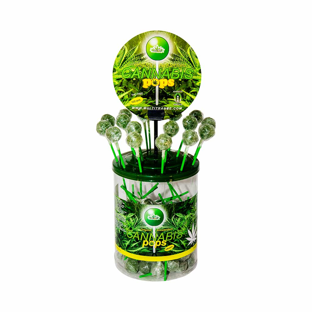 Cannabis Pops – Display Container (100 Lollies)