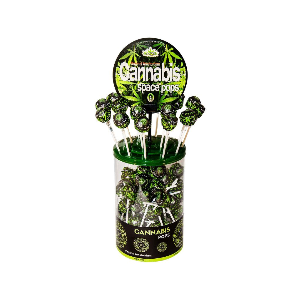 Cannabis Space Pops – Display Container (100 Lollies)
