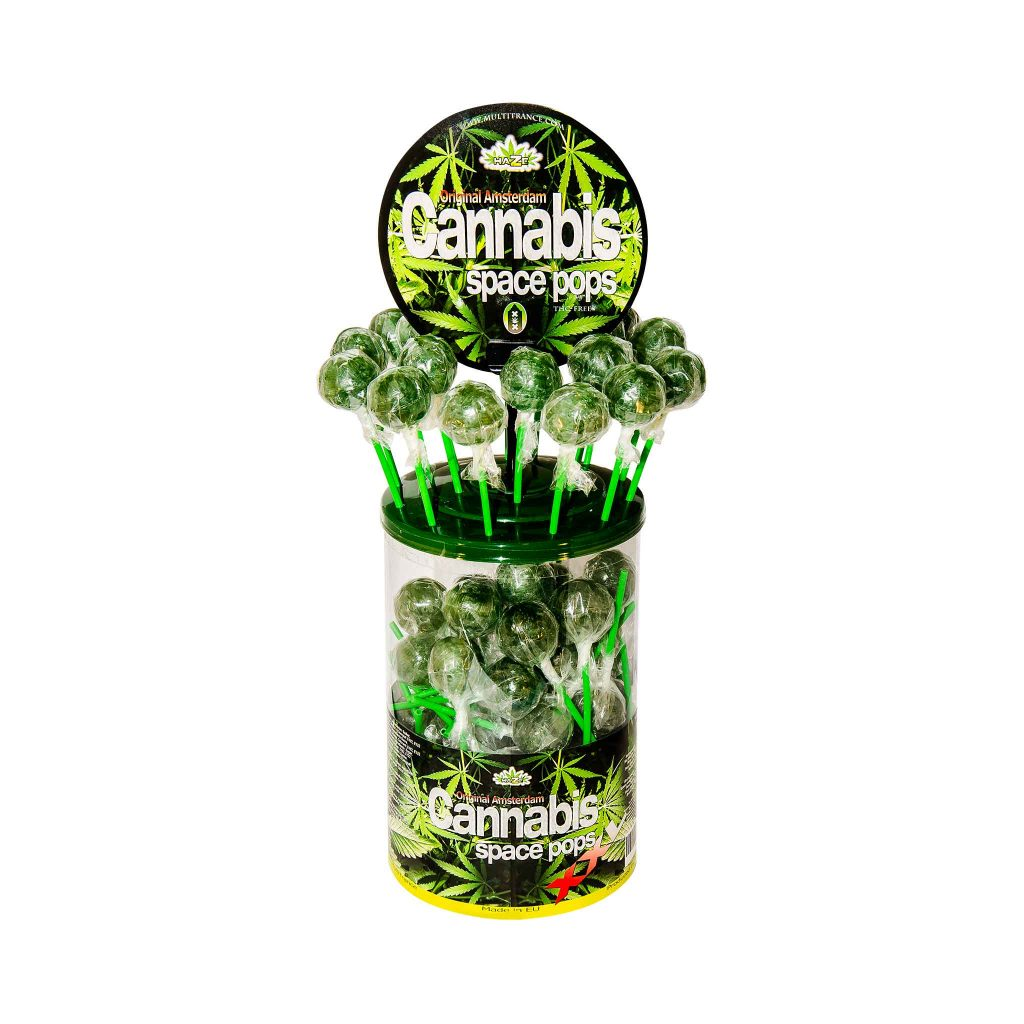 Cannabis XXL Space Pops – Display Container (70 Lollies)