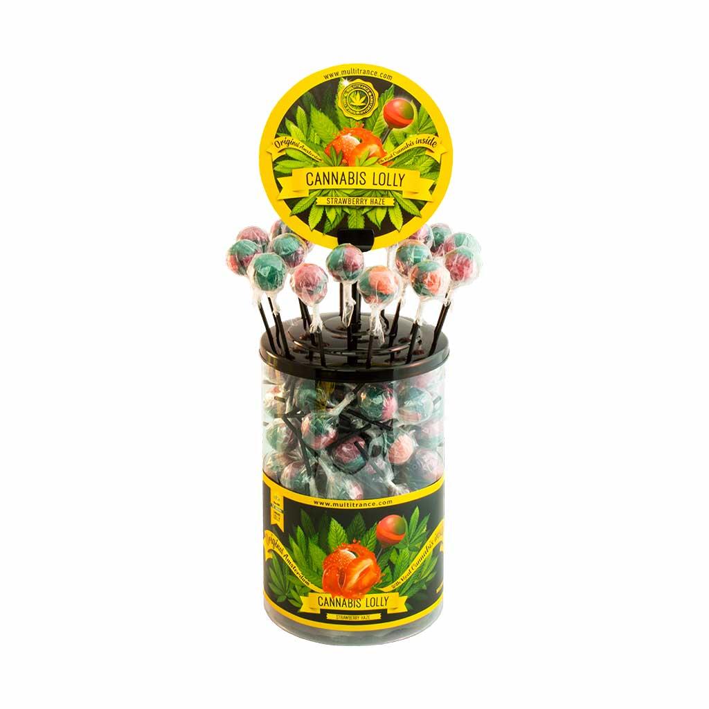 Cannabis Strawberry Haze Lolly – Singles