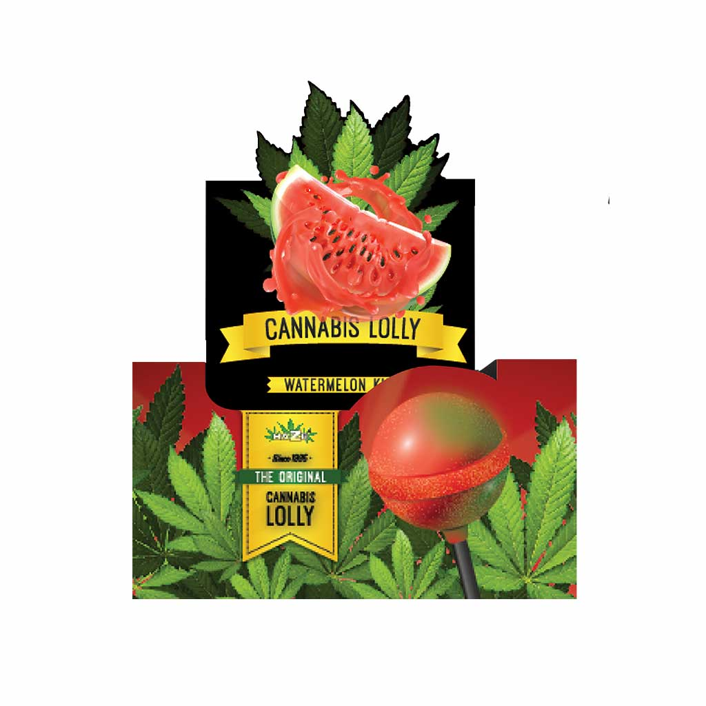 Cannabis Watermelon Kush Lollies – Display Carton (70 Lollies)