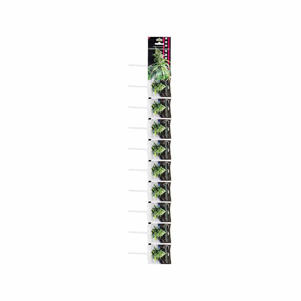 Cannabis White Widow Lollipops – Stripe (10 Lollies)