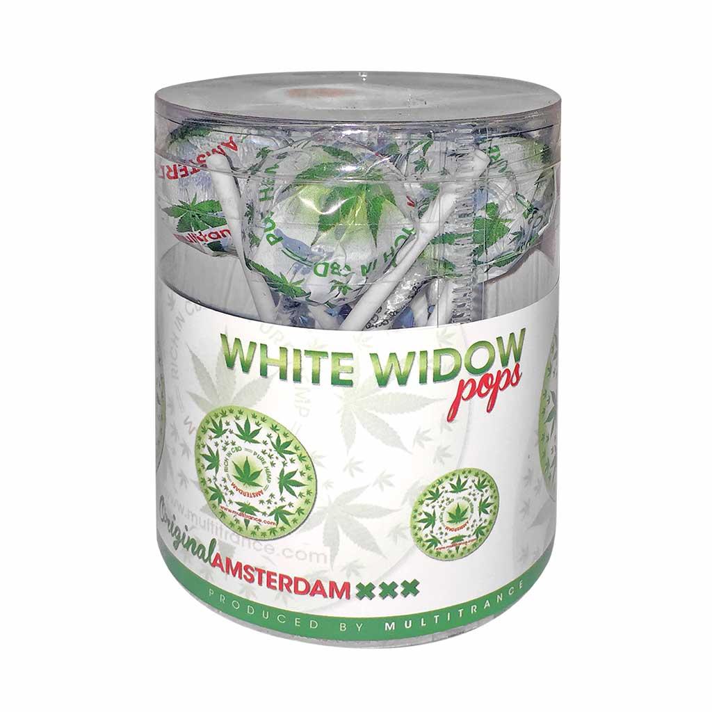 Cannabis White Widow Pops – Gift Box (10 Lollies)
