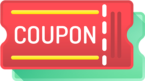 coupon for a discount on the first order