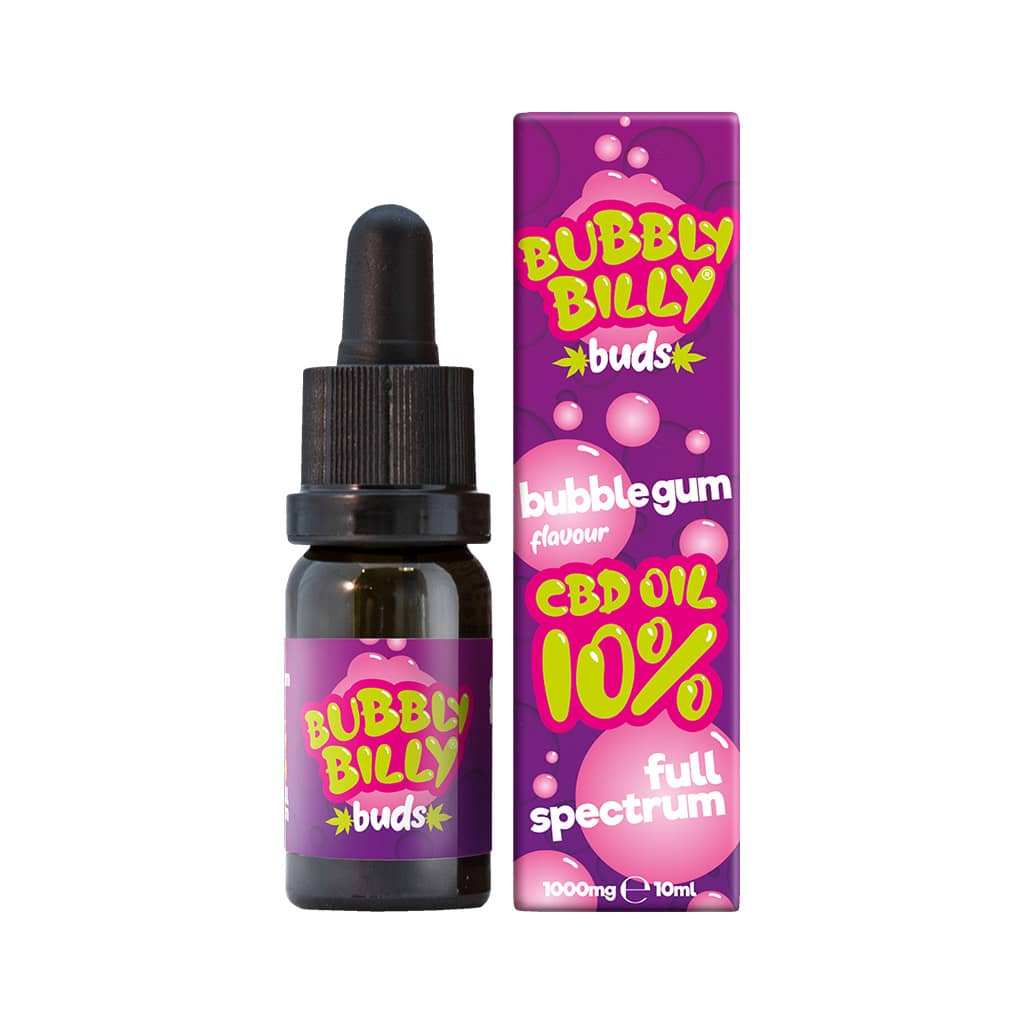 Bubbly Billy Buds 10% Bubblegum Flavoured CBD Oil (10ml)