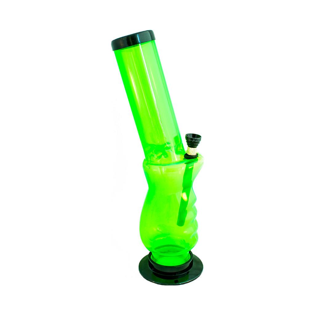 Multitrance green slanted acrylic bong