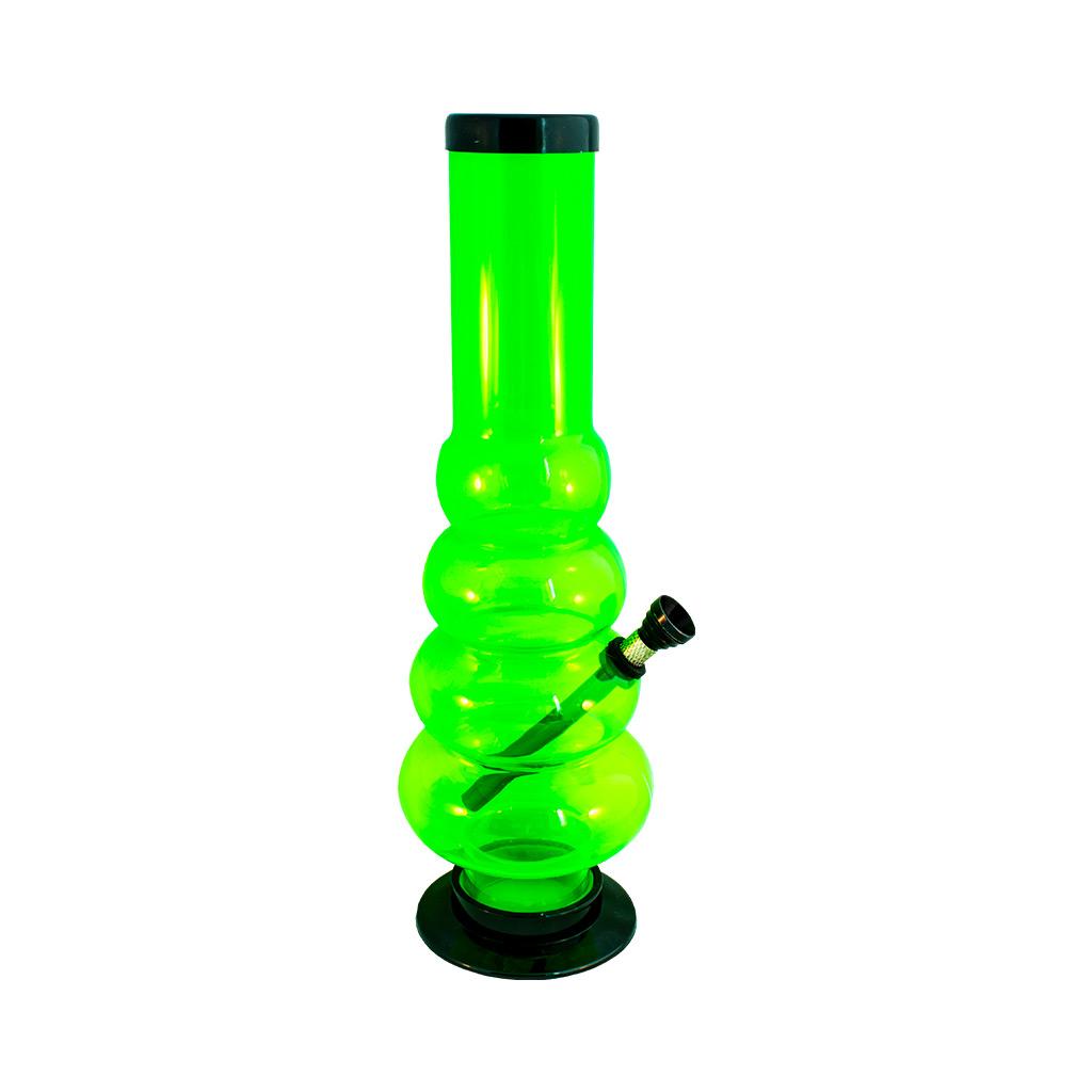 Multitrance green tall acrylic bong