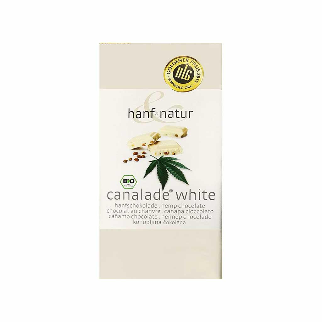 a delicious slab of Multitrance organic bio hemp flavoured white chocolate